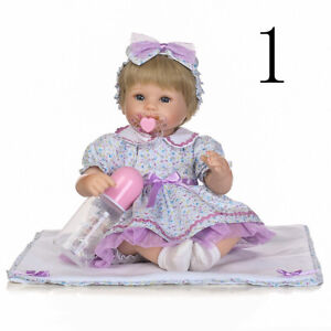 Hand-Knitted-Reborn-Doll-Baby-Girl-Clothes-for-16-034-Dolls-No-Doll-Included
