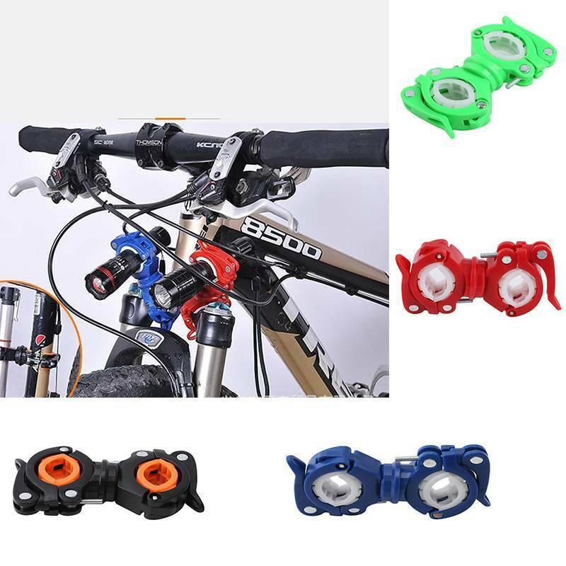 Bike Bicycle Cycling Led Flashlight Holder Front light Mount Clip Bracket T4K1