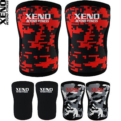 Xeno 7MM Knee Sleeves Support Crossfit Power Weight Lifting Squats Patella Brace