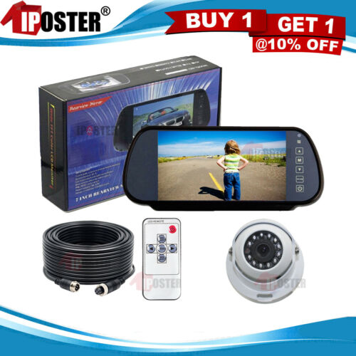 Easy-Fit Hi-Res Mirror Reversing Camera Kit with White Dome Motorhome CCD Camera