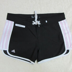 Adidas-Junior-039-s-Women-039-s-Size-7-Black-Pink-White-Board-Swim-Athletic-Shorts