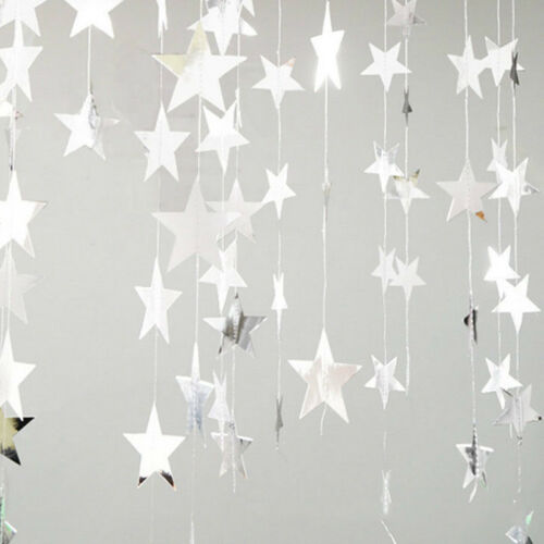 4M Star Paper Garland Bunting Party Wedding Baby Shower Strings DIY Decorations