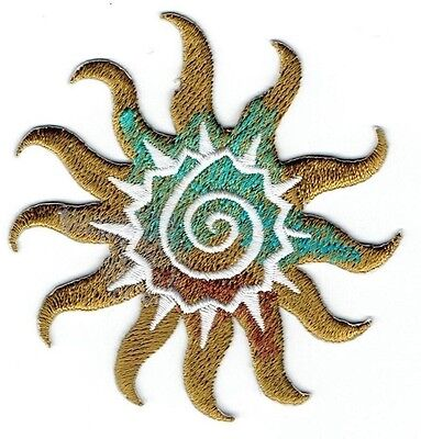 Iron-On Applique Embroidered Patch Southwest Style Tribal Sun