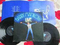 Barry Manilow – Live Arista DARTY 3 UK Gatefold + Inner S 2x Vinyl LP Album Set