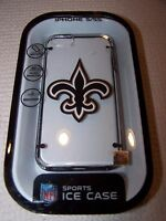 Nfl Sports Orleans Saints Hardshell Ice Case For Iphone 5/5s Clear/black