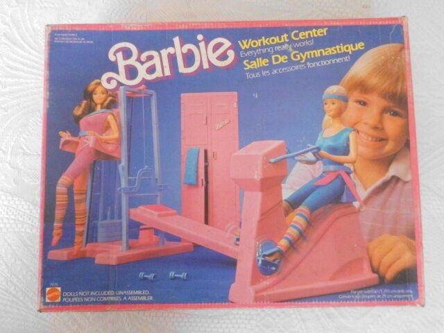 BARBIE WORKOUT CENTER   mattel  1984  fondo di magazzino MADE IN FRANCIA