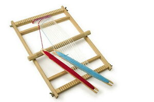 LARGE-DELUXE-WOODEN-TAKE-APART-WEAVING-LOOM-CRAFTWORK-ITEM-GIRLS-GIFT