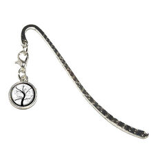 Tree of Life - Metal Bookmark Page Marker with Charm