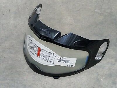 ZR DUKE HELMET SHIELD SNOWMOBILE DOUBLE LENS VISOR SMOKE