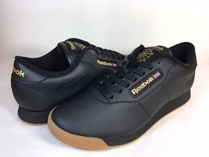 23d303fa3c6d Image is loading REEBOK-WOMEN-CLASSIC-PRINCESS-LOW-BS8457-Black-Black-