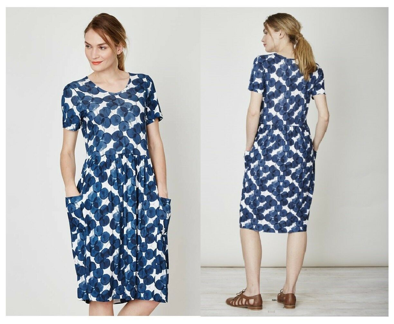 Thought Robe Federika Bambou Poche Robe Bambou Pcourire Bleu Plums WSD2983
