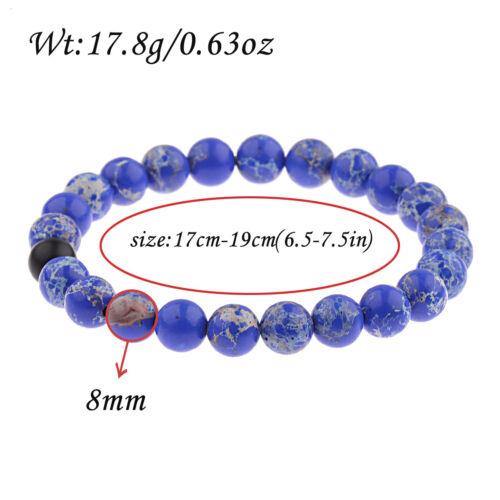 Couple son /& Hers Distance Noir Lava Malachite correspondants Yinyang Energy Bracelet