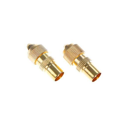 2x RF antenna catv TV coax cable pal female jack plug connector adapter utilityE