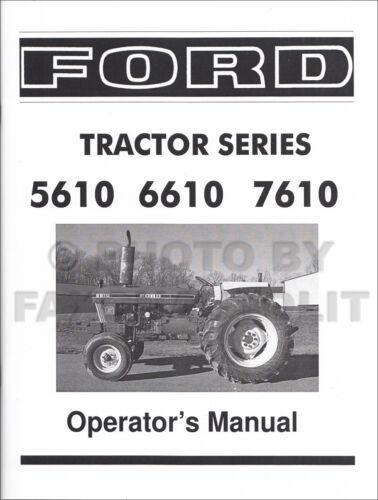 Ford Traktor Betreiber Manuell 5610 6610 7610 1982-1986 Bedienungsanleitung