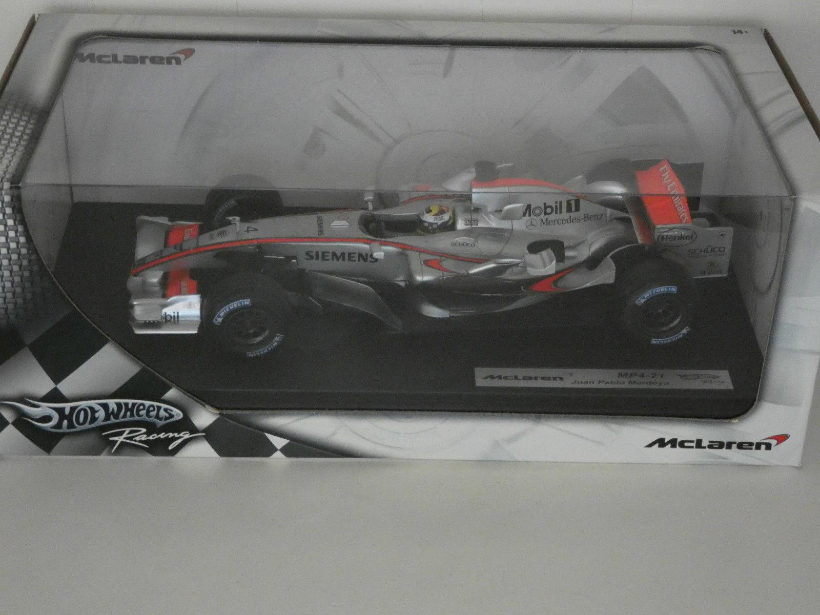 McLaren MP4-21 Juan Pablo MonJuguetea 1 18 HOTWHEELS 31211