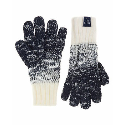 New Womens Superdry Ombre Clarrie Gloves Dark Navy
