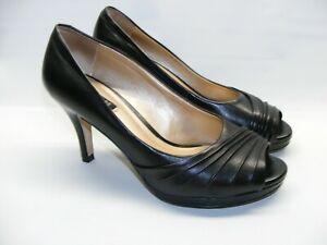 faefd32f4 Alex Marie Women's Size 6.5 M Black Platform Peep Toe Pumps 3