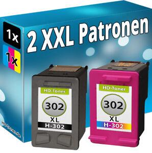 2x-DRUCKER-PATRONEN-fuer-HP-302-XL-Envy-4520-4521-4522-4524-4525-4526-4527-4528