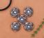 10X-Bohemian-3D-Flower-Turquoise-Conchos-For-Leather-Craft-Keychian-Wallet-Decor miniatuur 4