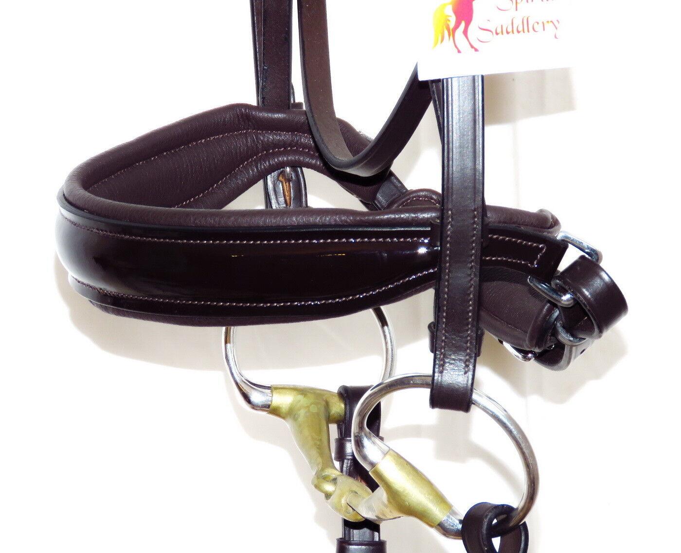 FSS FREEFORM Comfort Anatomic CUT AWAY Headpiece CAVESSON Noseband PATENT PATENT Noseband Bridle 9c33d5