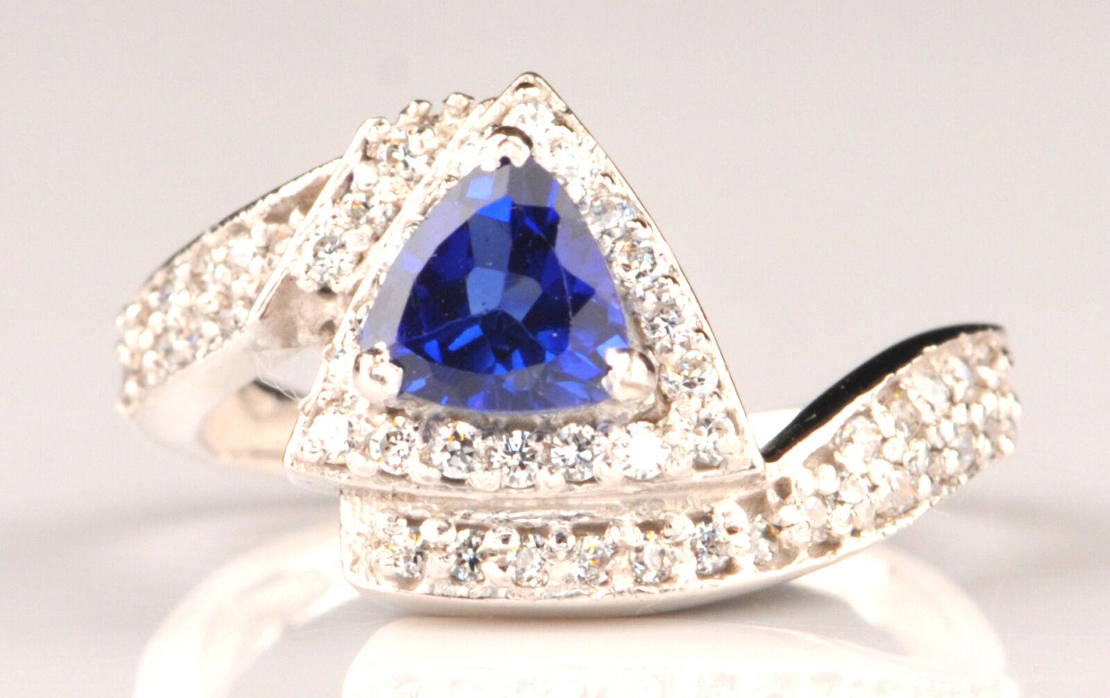 1.90 Carat 14KT White gold Natural blueee Tanzanite IGI Certified Diamond Ring
