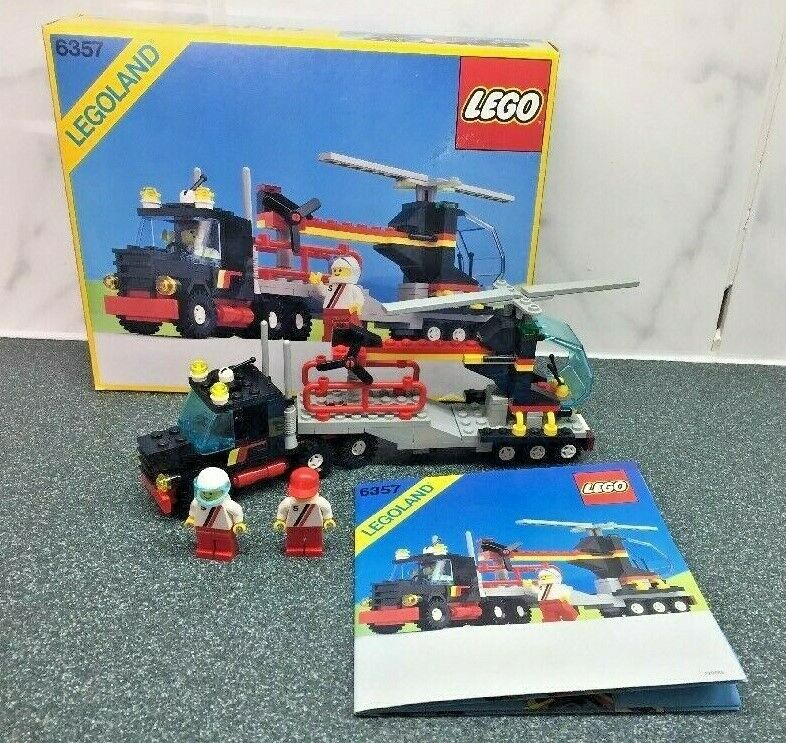 Vintage Lego 6357 Stunt Helicopter and Truck Boxed Excellent Condition