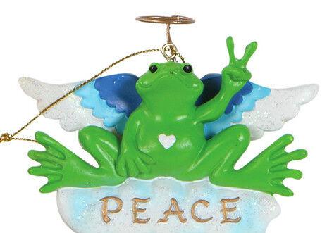 """NEW PEACE FROGS 4/"""" RESIN PEACE ANGEL KURT S ADLER TABLE SITTER"""