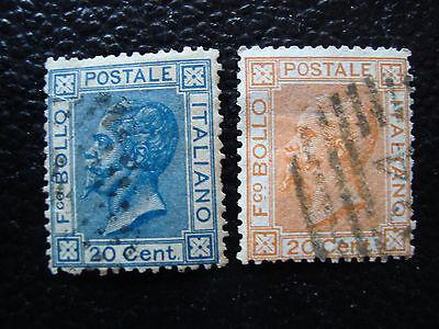 Perfekte Verarbeitung Briefmarke 23 24 Gestempelt a11 e Italien Yvert Und Tellier Nr