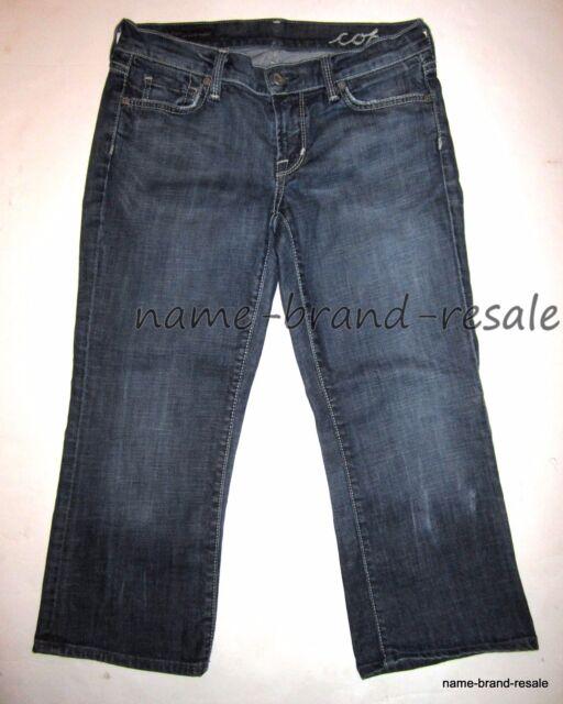 CITIZENS OF HUMANITY Jeans Womens 28 KELLY Low Waist Cropped Capri Denim Capris