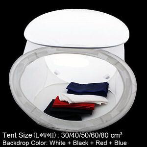 30cm~80cm New Photography Photo Studio Light Tent Lighting Cube Box + 4 Backdrop