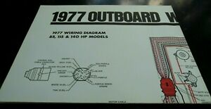1977 OMC Outboard Wiring Diagrams Poster 85 115 140 HP ...