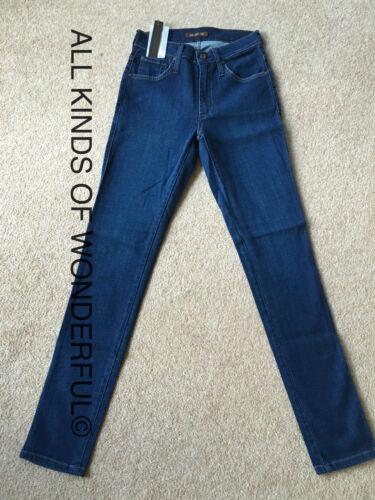 Tag Nuovo di zecca con RRP £ 220 James Jeans Alta Classe SKINNY IN COSTIERA mid blue