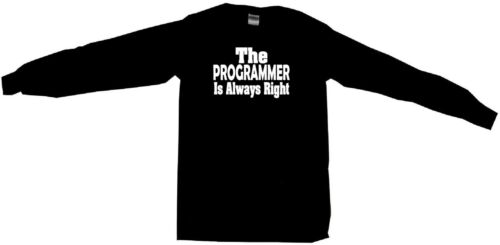 The Programmer Is Always Right Mens Tee Shirt Pick Size Color Small-6XL