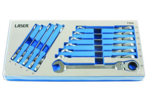 chiave chiavi laser di Set a cricchetto flessibile 7350 8mm Chiave 19mm stella a q8Ftfq