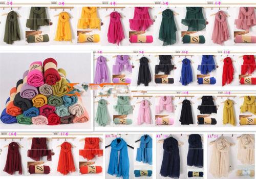 Glamorous Fashion Plain Chiffon Hijab Scarf Fashion Large Maxi Headscarf Scarves