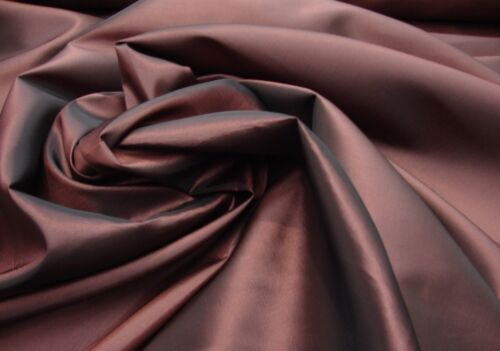 "58/"" Wide Dress Taffeta Solid Fabric PLUM Sold by yard gown curtain 60/""wide"