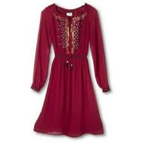 Altuzarra for Target Red Ruby Hill Peasant Dress Sequins Embroidered 2 or 4  NEW