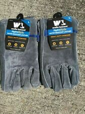 Lot Of 2pr New Wells Lamont Hydra Hyde Leather Gloves L Large Water Resistant