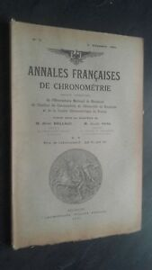 Folleto Anales Franceses De Chronometries N º 2-4/2E Trim. 1931 ABE