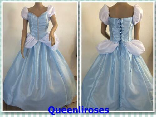 "Cinderella Ball Gown Dress Deluxe US Ship Adult Large//XL 40-42/"" Bust"