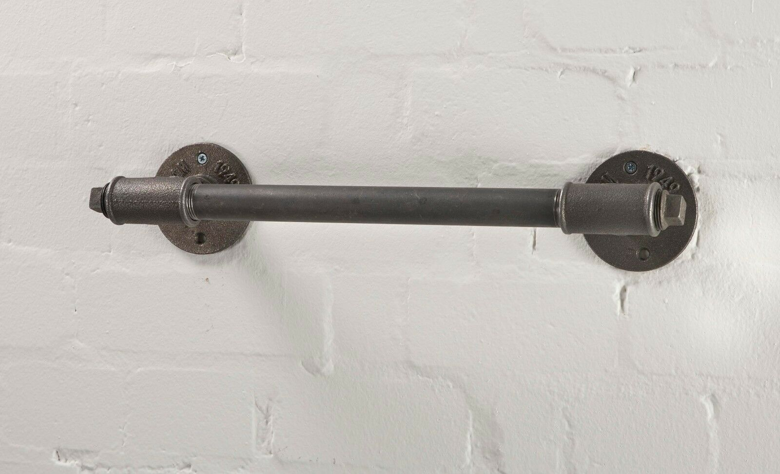 Industrial Vintage Towel Rail Made From Pipe Fittings - Tee Nut Style