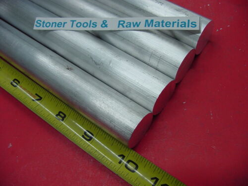 """4 Pieces 1-1//2/"""" ALUMINUM 6061 ROUND ROD BAR 10/"""" LONG Solid T6 1.50/"""" Lathe Stock"""