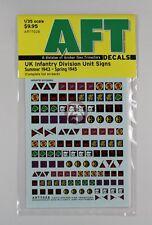 Archer 1/35 UK Infantry Division Unit Signs (Summer 1943 - Spring 1945) AR77028