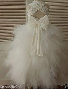 FLOWER GIRL DRESS WEDDING RECITAL FORMAL PAGEANT BRIDESMAID BIRTHDAY PARTY DANCE