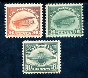 USAstamps-Unused-FVF-US-Airmails-Scott-C1-MLH-C2-C4-OG-MNH