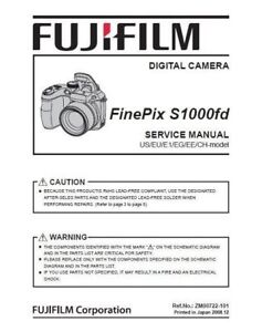 fujifilm finepix s1000 fd service manual repair guide ebay rh ebay com Fujifilm E550 Fujifilm E550