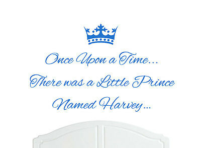 Once Upon a Time Prince Henry Wall Sticker Decal Bed Room Nursery Art Boy//Baby