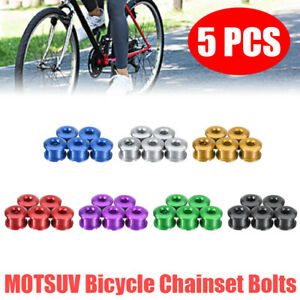 5pcs Set Bicycle Chainring Bolts Single Speed Screws Chain Ring Bike Accessory