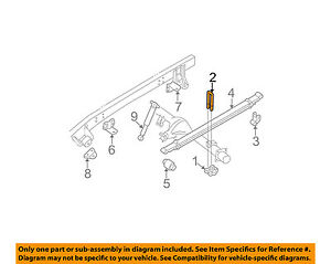 GM OEM Rear Suspension-U-bolt Plate Right 15592588