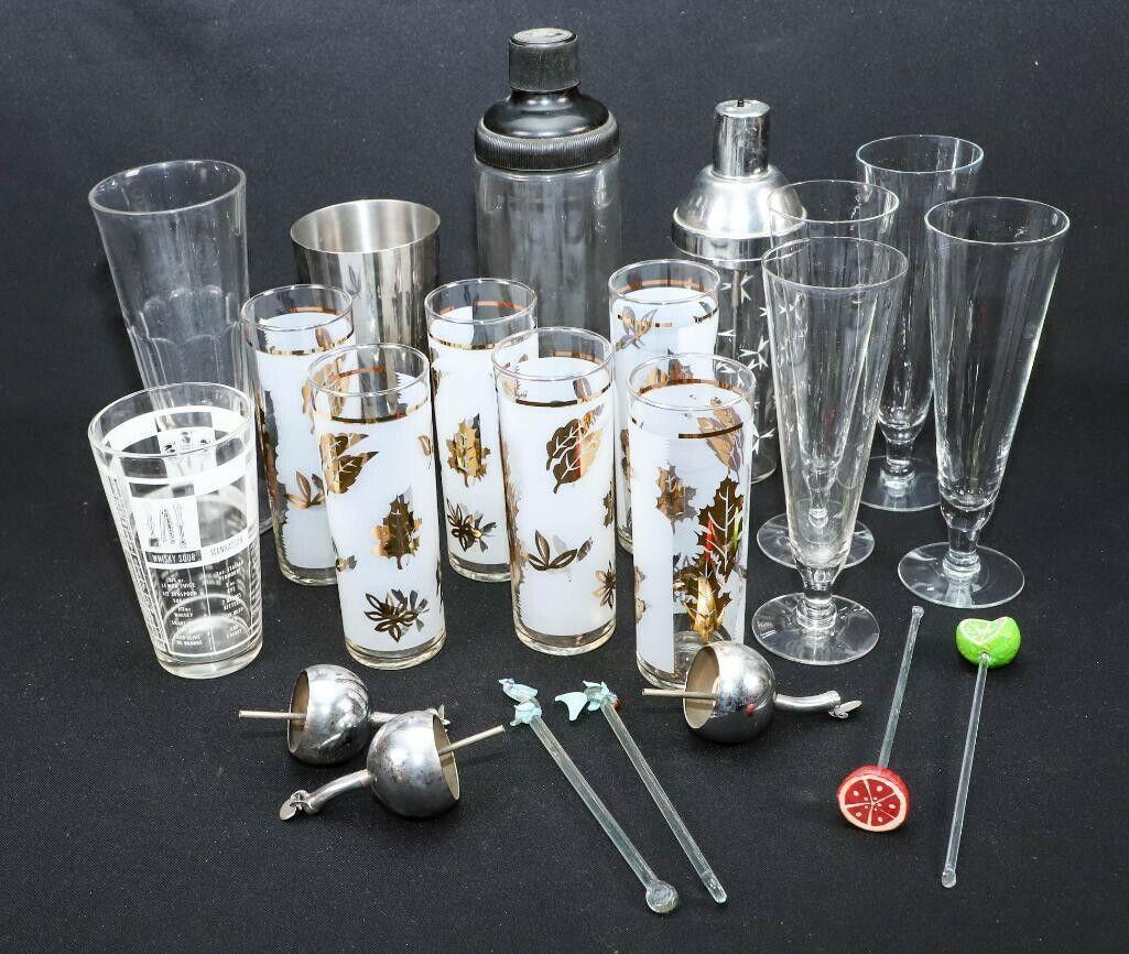 MID-CENTURY MODERN BAR Ware Mélange Tool Set Vraiment Cool plus pour votre Bar